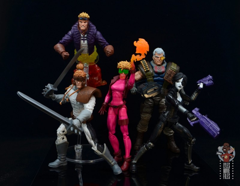 marvel legends boom-boom figure review - x-force ready for battle