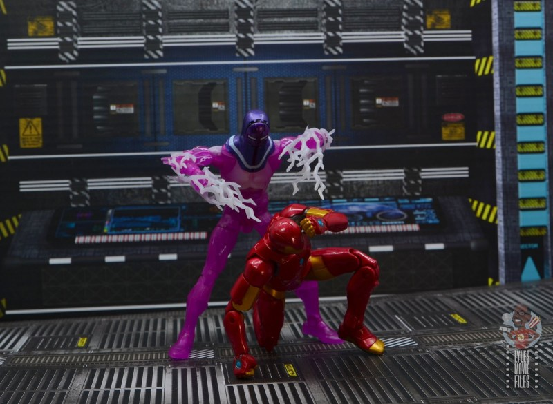 marvel legends living laser figure review - attacking iron man