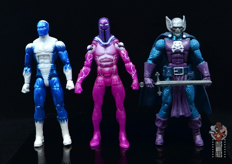 marvel legends living laser figure review - scale with blizzard and dreadknight