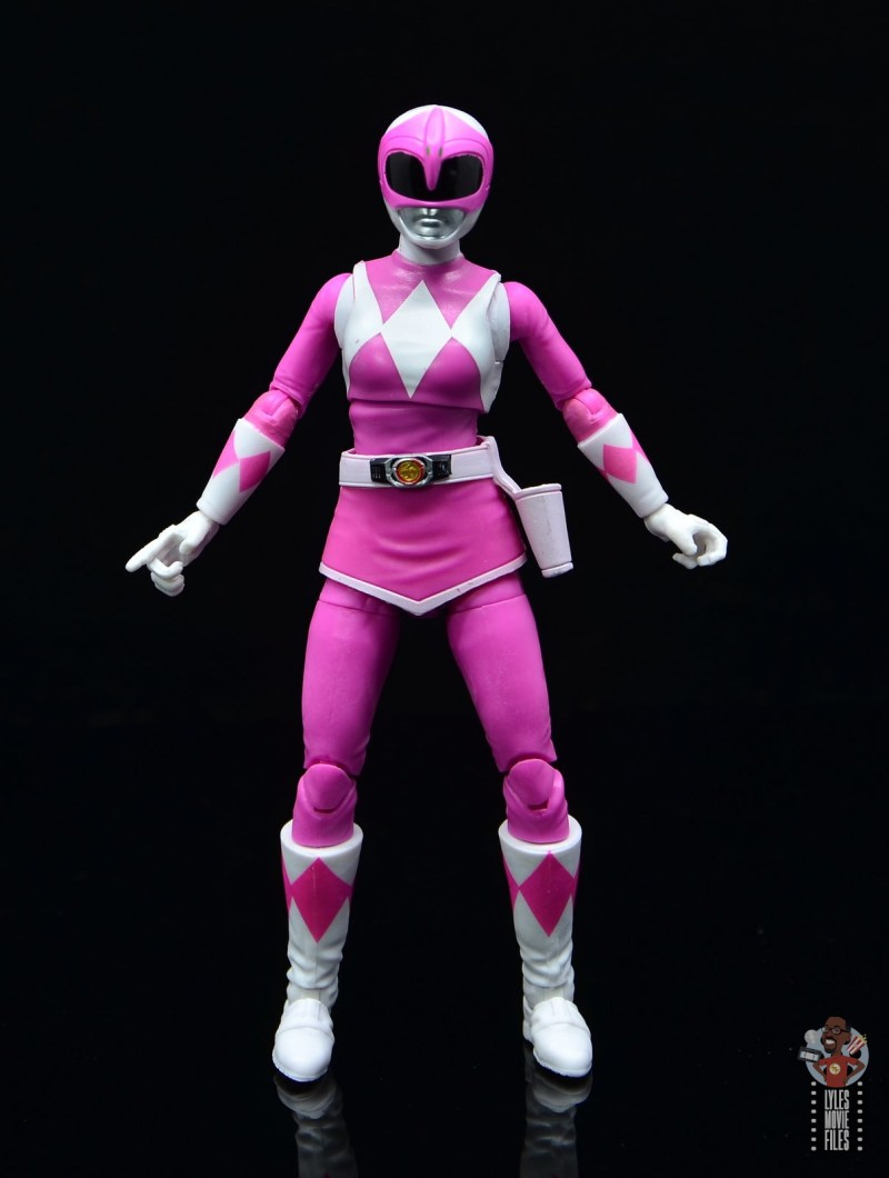 power rangers lightning collection pink ranger figure review -arms wide