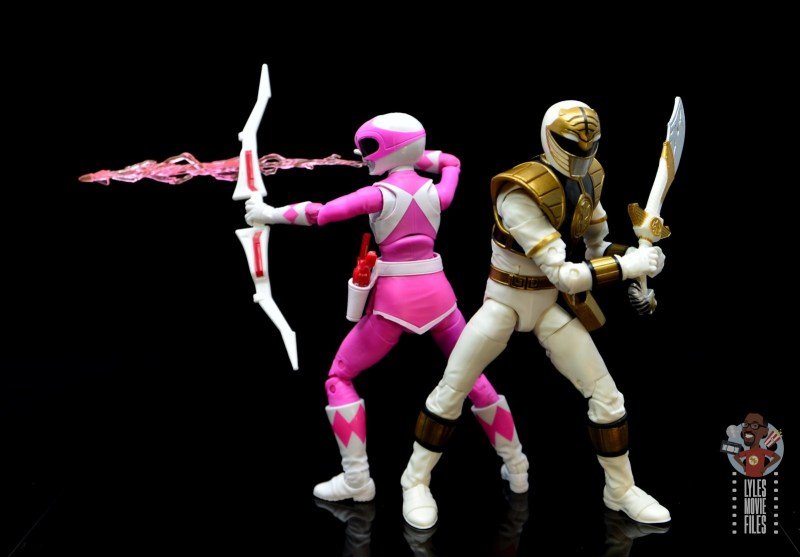 power rangers lightning collection pink ranger figure review -back to back with tommy