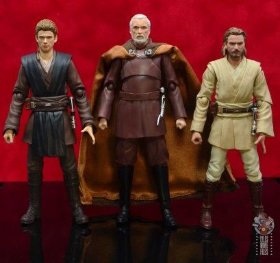 sh figuarts count dooku figure review - scale with anakin skywalker and obi-wan kenobi