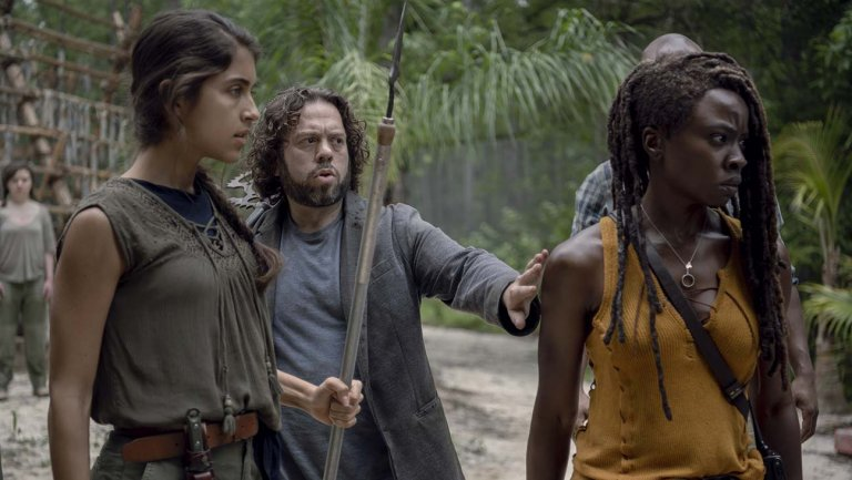 the walking dead - the world before review - rachel, luke and michonne