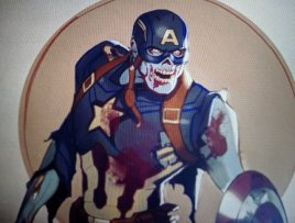what if concept art - zombie captain america