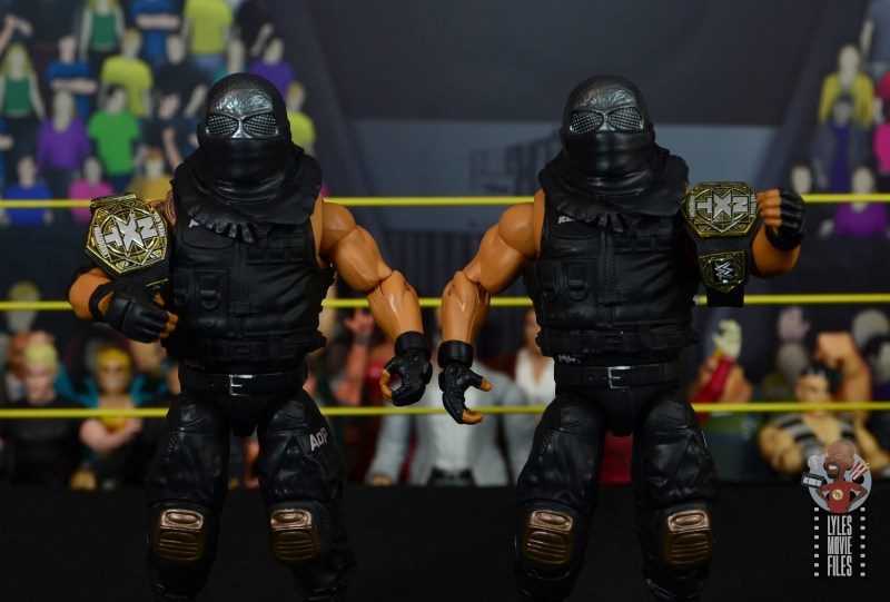 wwe elite authors of pain figure review - accessories on