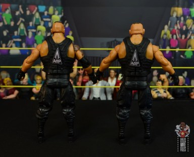 wwe elite authors of pain figure review - rear