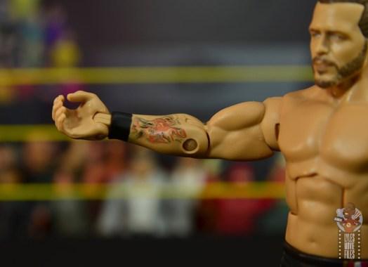 wwe elite undisputed era figure set review - adam cole - tattoo detail