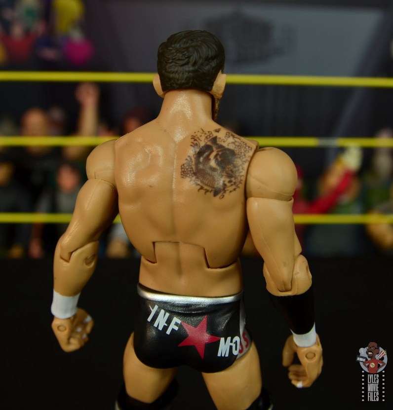 wwe elite undisputed era figure set review - bobby fish - tattoo and tights details