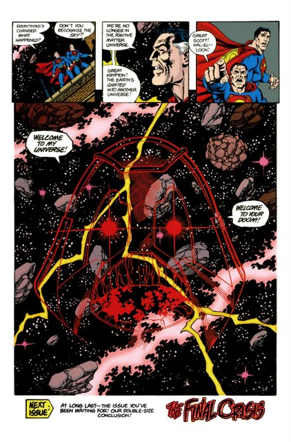 crisis on infinite earths #11 -welcome to anti-matter world