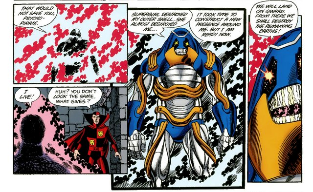 crisis on infinite earths #8 - anti-monitor's new look