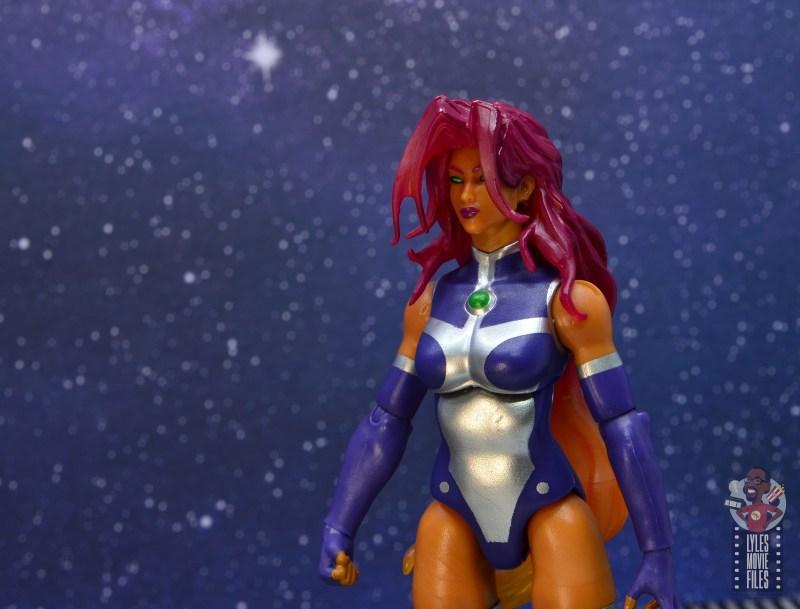 dc multiverse starfire figure review - head sculpt close up