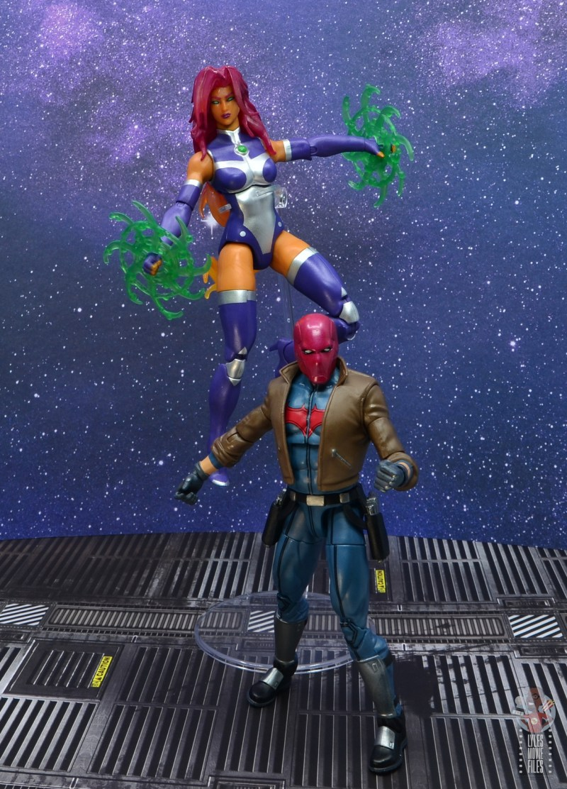 dc multiverse starfire figure review - with red hood
