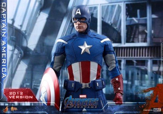 hot toys avengers endgame captain america 2012 figure - helmet on