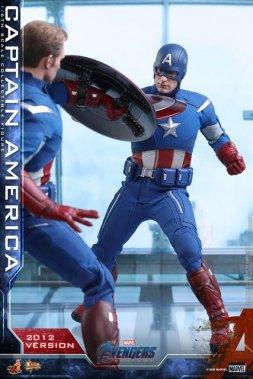 hot toys avengers endgame captain america 2012 figure - shield clash with cap