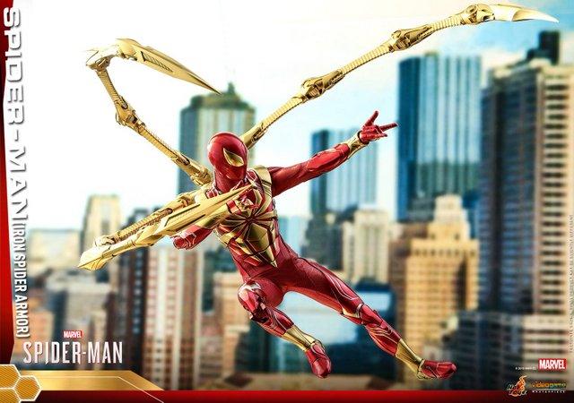 hot toys spider-man iron spider armor figure - detail side shot