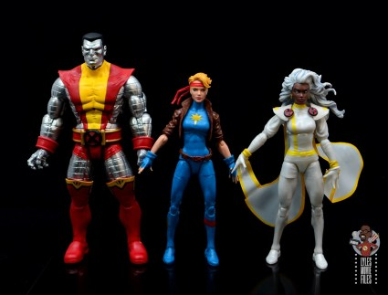 marvel legends dazzler figure review - scale with colossus and storm