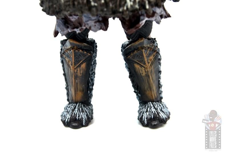marvel legends m'baku figure review - boot detail