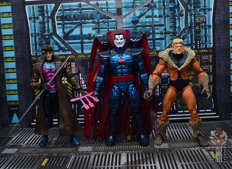 marvel legends mister sinister figure review - scale with gambit and toy biz sabretooth