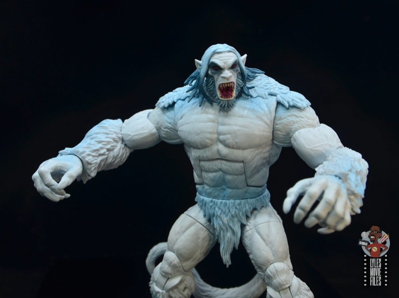 marvel legends wendigo figure review - arms out