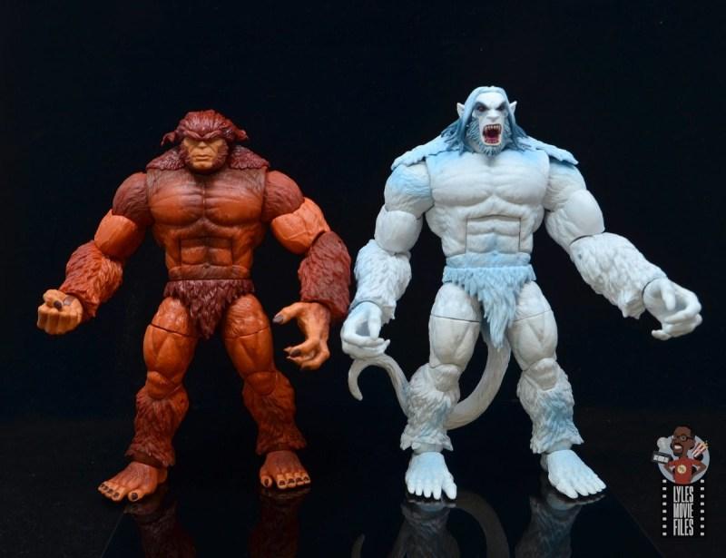 marvel legends wendigo figure review - scale with sasquatch