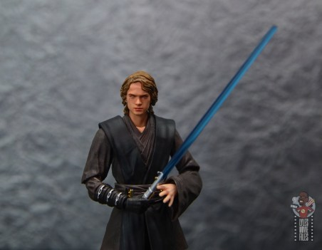 sh figuarts anakin skywalker revenge of the sith figure review - wide shot with lightsaber