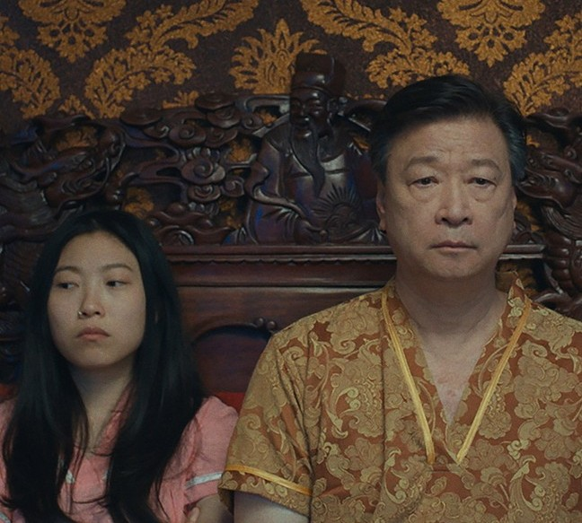 the farewell movie review -awkwafina and tzi ma