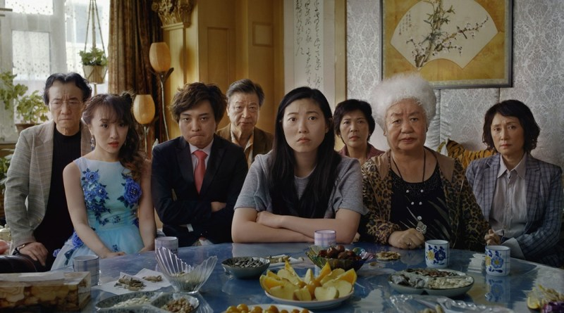 the farewell movie review - the family at the dinner table