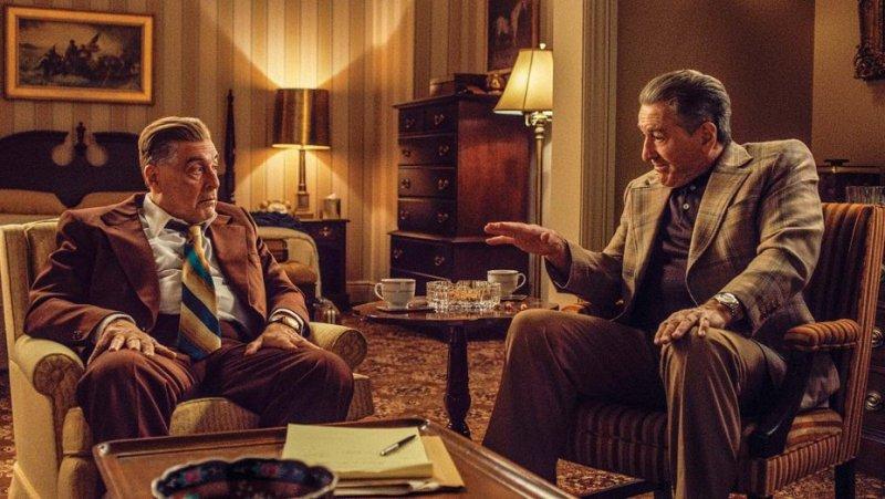 the irishman review - jimmy hoffa and frank sheeran