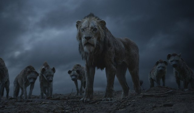 the lion king 2019 review - scar and the hyenas