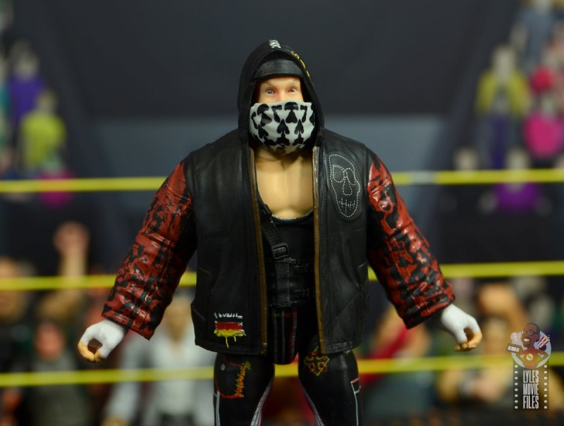 wwe alexander wolfe figure review - entrance gear close up