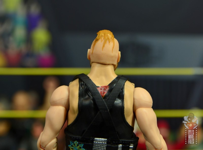 wwe alexander wolfe figure review - rear close up