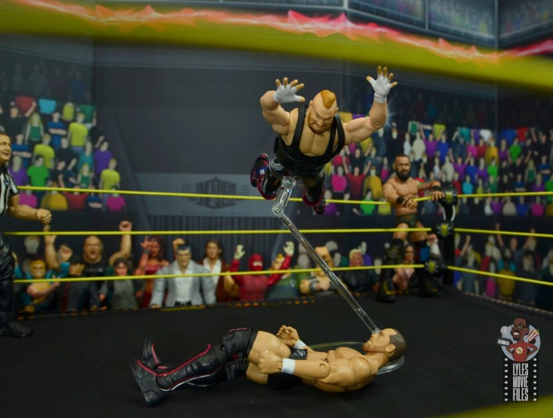 wwe alexander wolfe figure review - splash to kyle o'reilly
