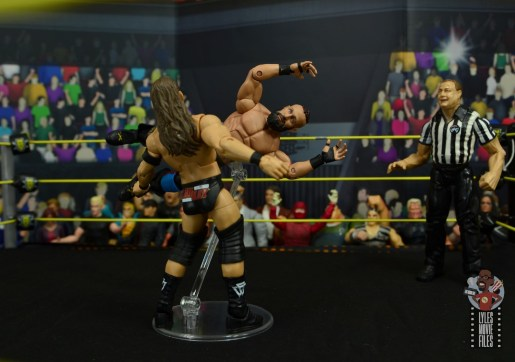 wwe elite 65 eric young figure review -cross body block to adam cole