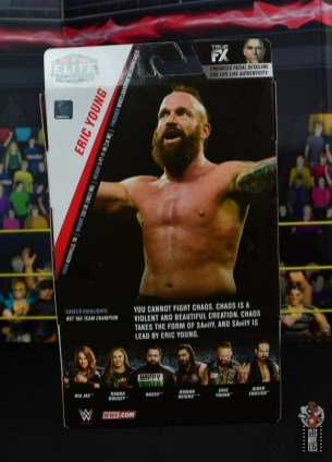 wwe elite 65 eric young figure review -package rear