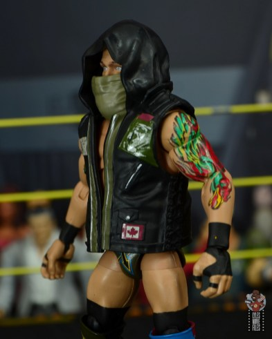 wwe elite 65 eric young figure review - vest left side