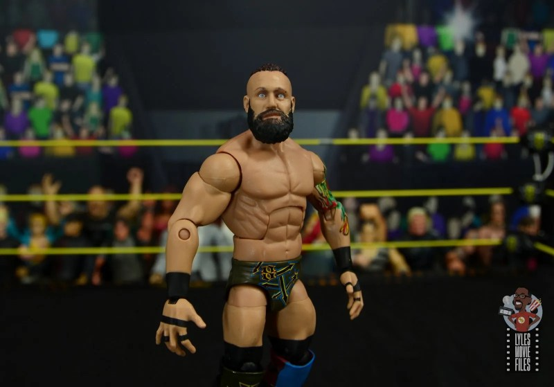 wwe elite 65 eric young figure review - wide shot
