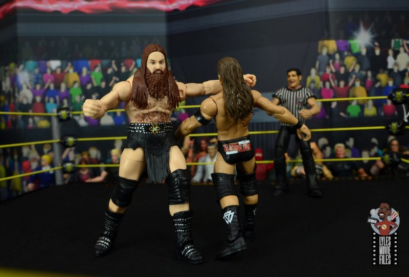 wwe elite killian dain figure review - lariat to adam cole