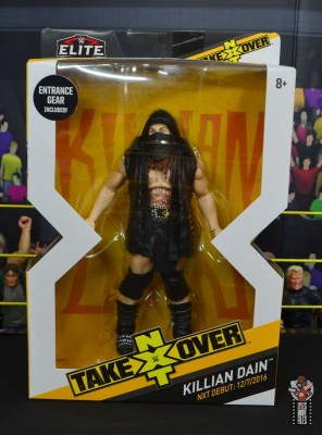 wwe elite killian dain figure review - package front