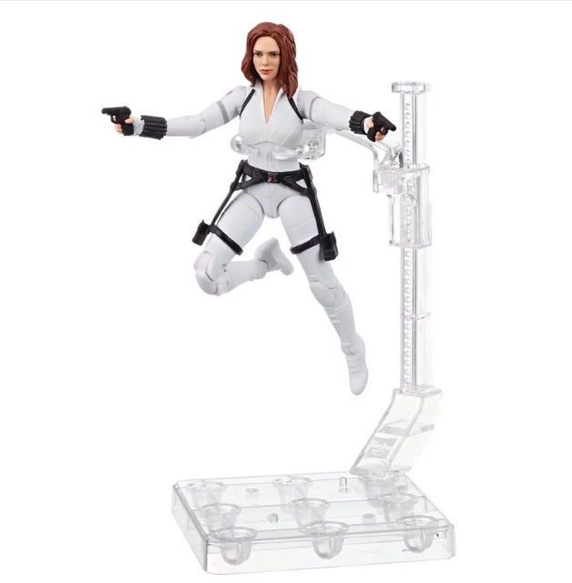 Black Widow Marvel Legends 6-Inch Deluxe White Costume Action Figure with Stand - in air