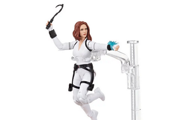 Black Widow Marvel Legends 6-Inch Deluxe White Costume Action Figure with Stand - main pic