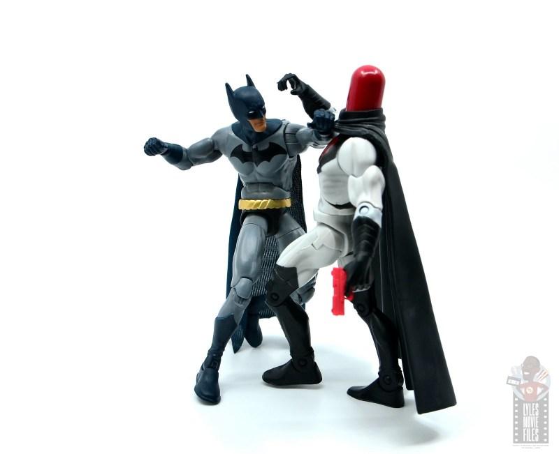 dc multiverse dick grayson batman figure review - punching red hood