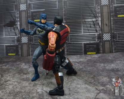 dc multiverse kgbeast figure review - getting punched by batman