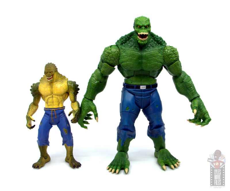 dc multiverse killer croc figure review - scale with dc super heroes killer croc