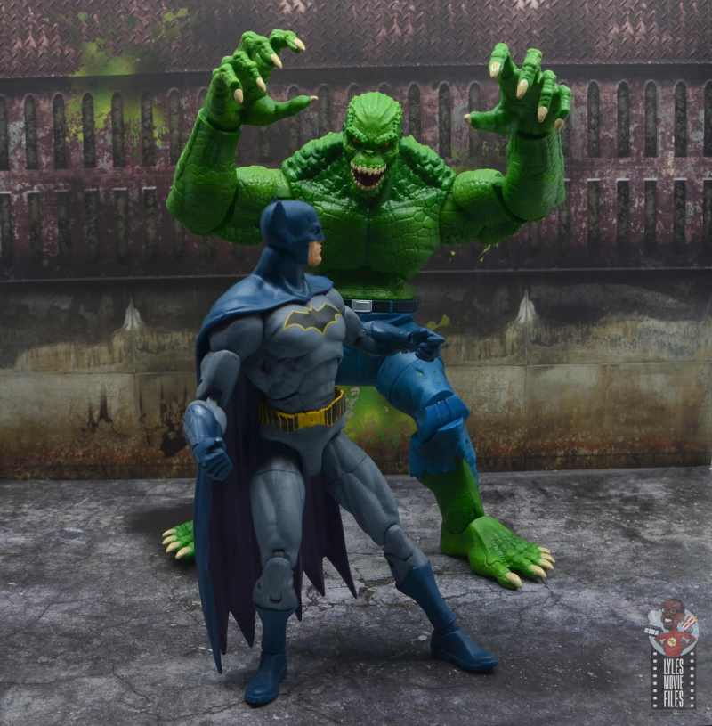 dc multiverse killer croc figure review - stalking batman