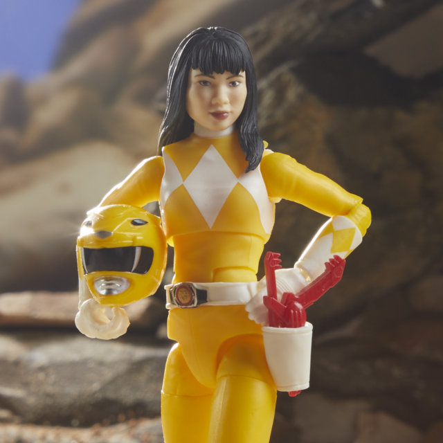 lightning collection yellow ranger - unmasked head