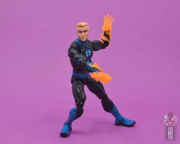 marvel legends human torch figure review - battle stance