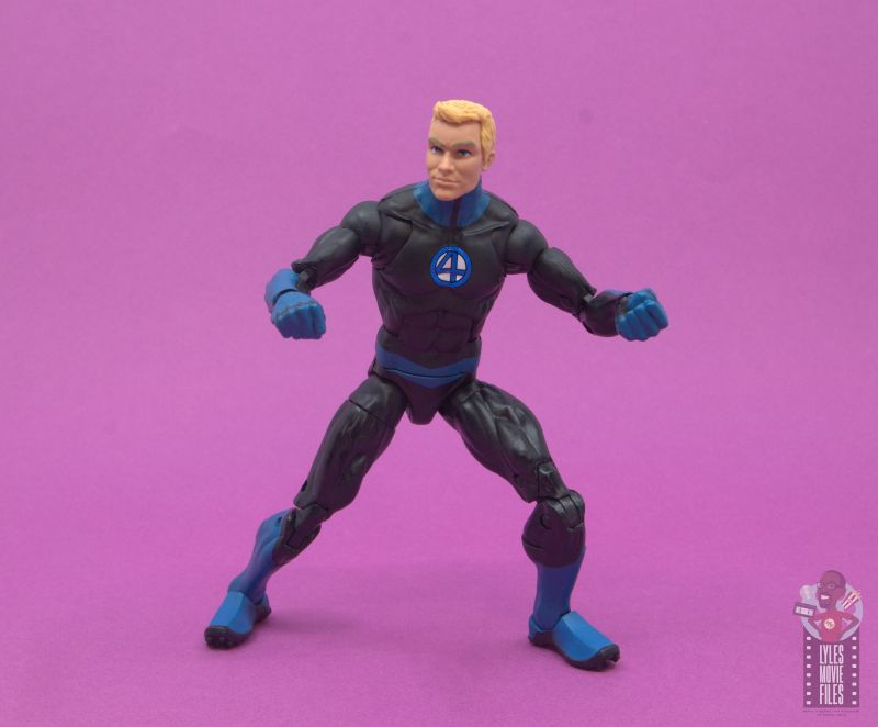 marvel legends human torch figure review - crouching