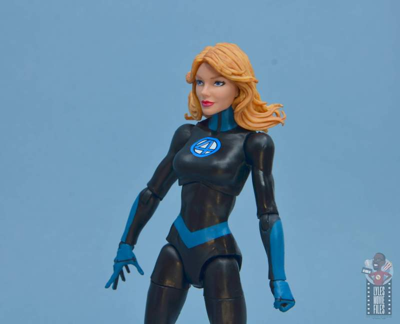 marvel legends invisible woman figure review - hair and head sculpt detail