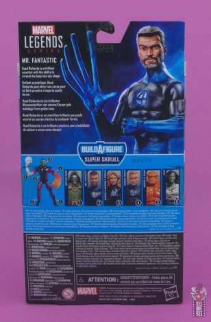 marvel legends mister fantastic figure review - package rear