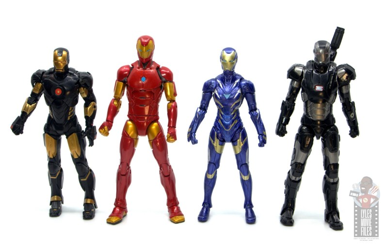marvel legends rescue figure review -scale with iron man and war machine